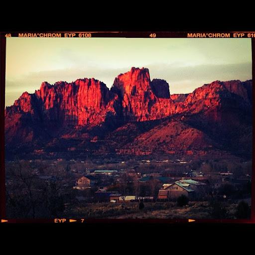 sunset in colorado city, arizona