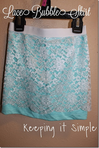 lace bubble skirt