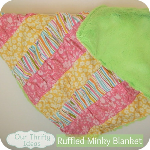Our Thrifty Ideas: How to sew a ruffled minky blanket