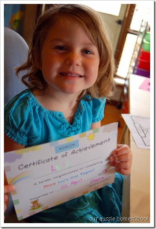 Our Aussie Homeschool ~ Kumon Let's Cut Paper