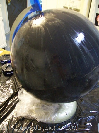 repurposed globe chalkboard paint (2)