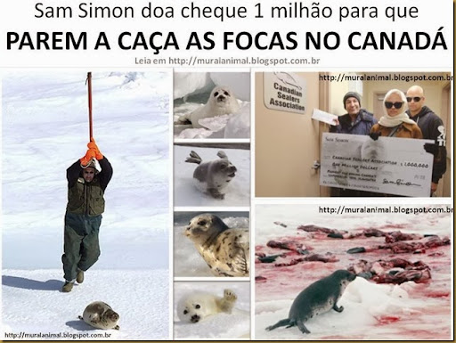 Sam Simon caça focas