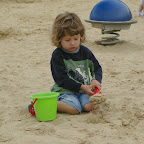 Alex playing in the dirty sand...