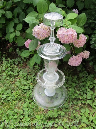 decorative glass project for the garden or patio