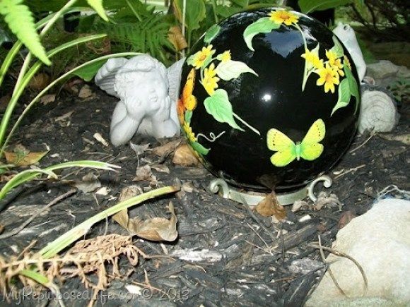 gazing ball bowling ball