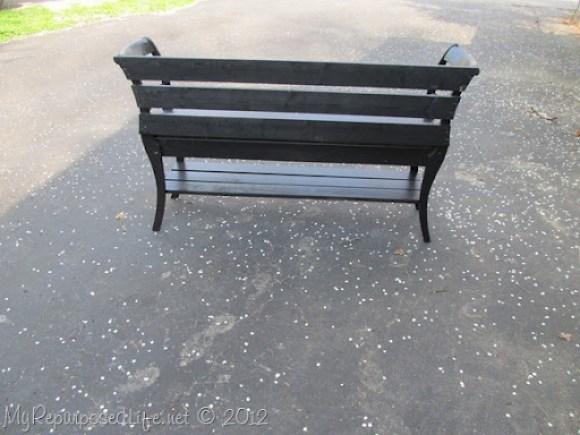 back of double chair bench MyRepurposedLife.com