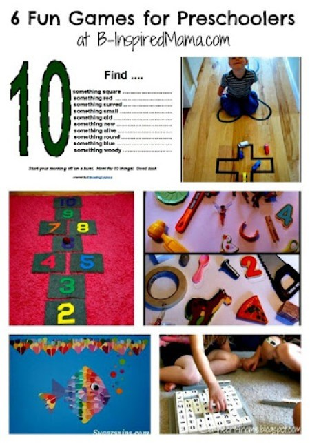 6 Games for Kids Collage