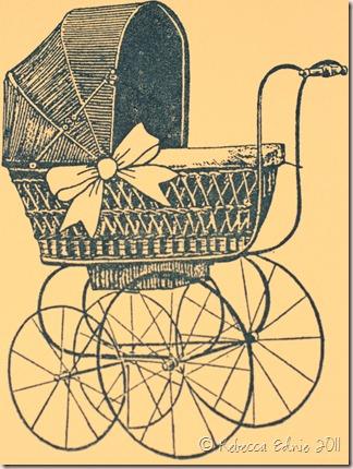 baby buggy card set card closeup