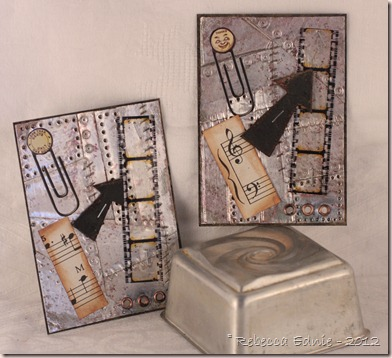 metal holtz inspired ATCs