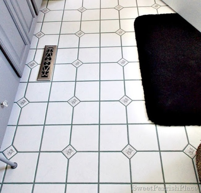 bathroom grout after5