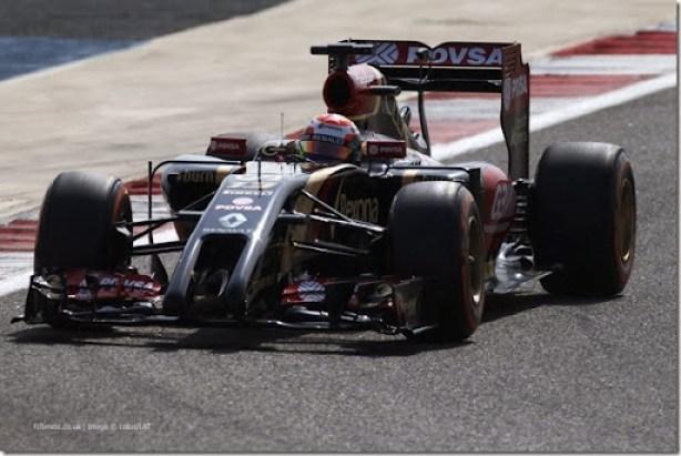 2014 F1 Pre Season Test 3 - Day 1Bahrain International Circuit, Sakhir, Bahrain.Thursday 27 February 2014.Pastor Maldonado, Lotus E22 Renault.World Copyright: Glenn Dunbar/LAT Photographic.ref: Digital Image _89P5946.JPG