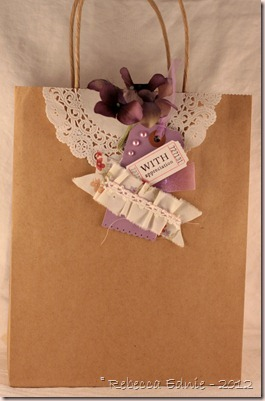pkg purple gift bag