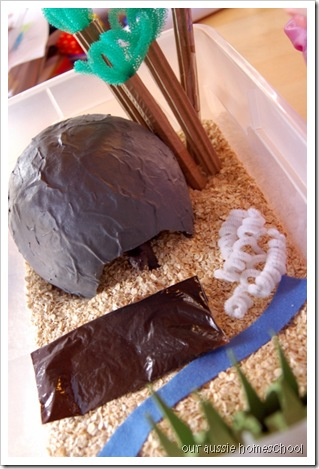 Bear Hunt Sensory Bin ~ Our Aussie Homeschool