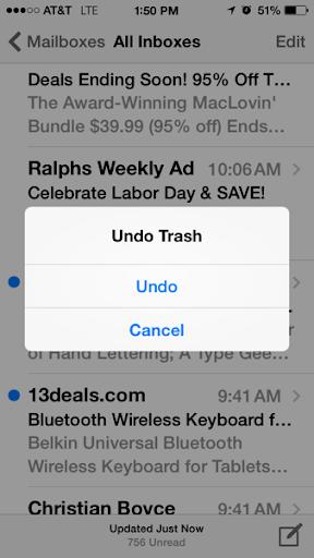 Shake to Undo (trash)
