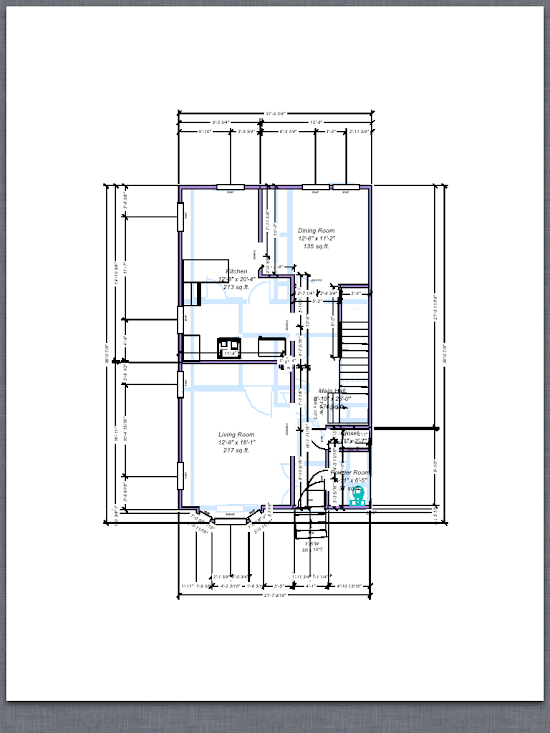 ... Of What One Floor (the Main Floor) Of My House Looks Like Once Iu0027d  Taken All Of The Measurements From My Penultimate Sketches And Drew A Floor  Plan With ...