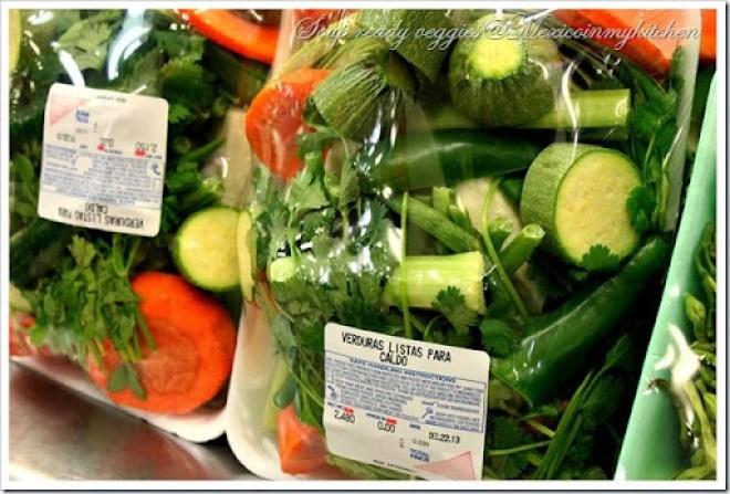 Verduras para caldoa