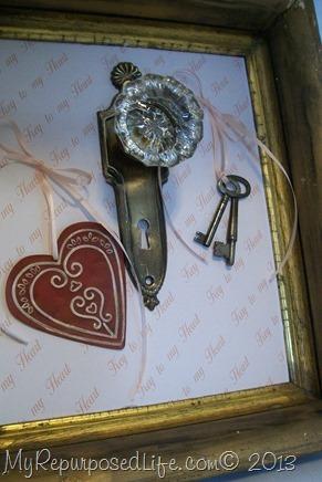 framed vintage doorknob