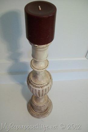 table lamp repurposed