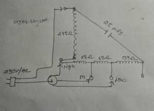 ELECTRIC & ELECTRONICS PROJECT: Orient wall fan winding data