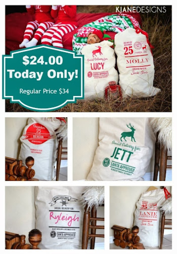 Personalized Santa Sacks from Poofy Cheeks