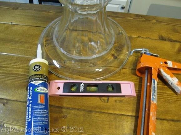 repurposed glassware