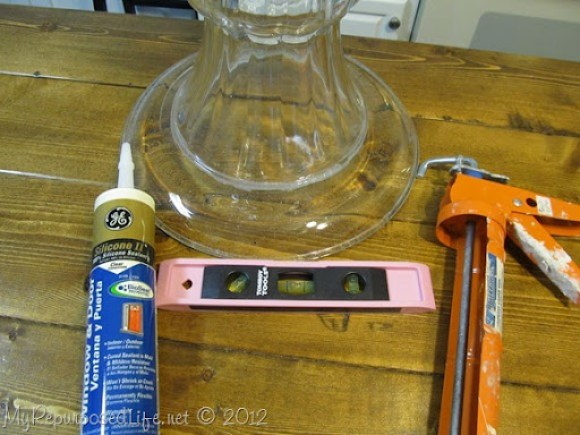 use silicone to attach glass pieces