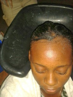 washing out the relaxer