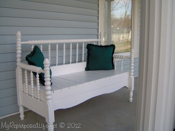 Repurposed Bed (bench)