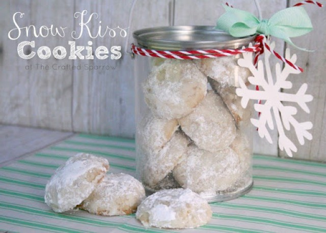 Snow Kiss Cookies from The Crafted Sparrow