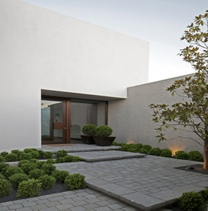 fachada moderna casa en chile