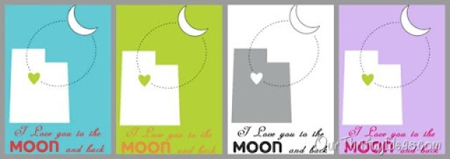 "Our Thrifty Ideas | DIY Frame and ""I Love You to the Moon and Back"" free #printable 