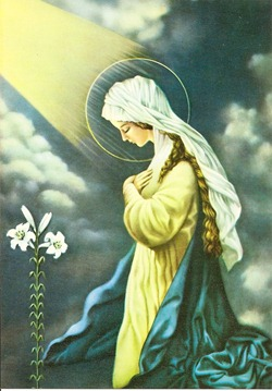 Nossa Senhora recolhida em oração