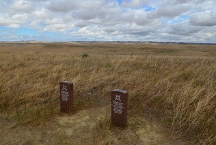 markers for Indians who fell at the Little Bighorn Battlefield