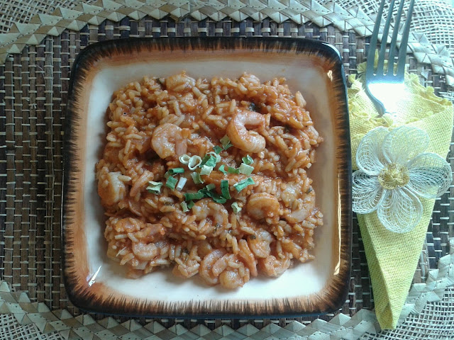 The Low-Fat Brown Rice Shrimp Jambalaya