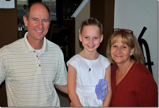 Halle with Grandma and Grandpa Cornell