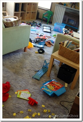 messy lounge