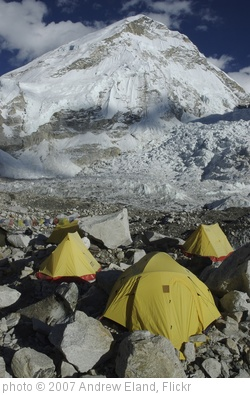 'Tents, Everest Base Camp' photo (c) 2007, Andrew Eland - license: http://creativecommons.org/licenses/by-sa/2.0/