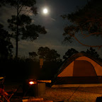 Campground under full moon.