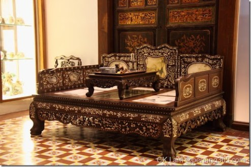 Antique furniture and collectibles of the Baba Nyonya and Peranakan     Boutique hotel  Seven Terraces on Stewart Lane  Penang by renowned hotelier  Christopher Ong and