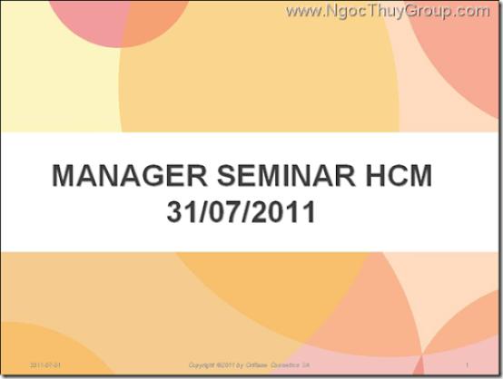 Oriflame Manager Seminar - HCM 31-07-2011