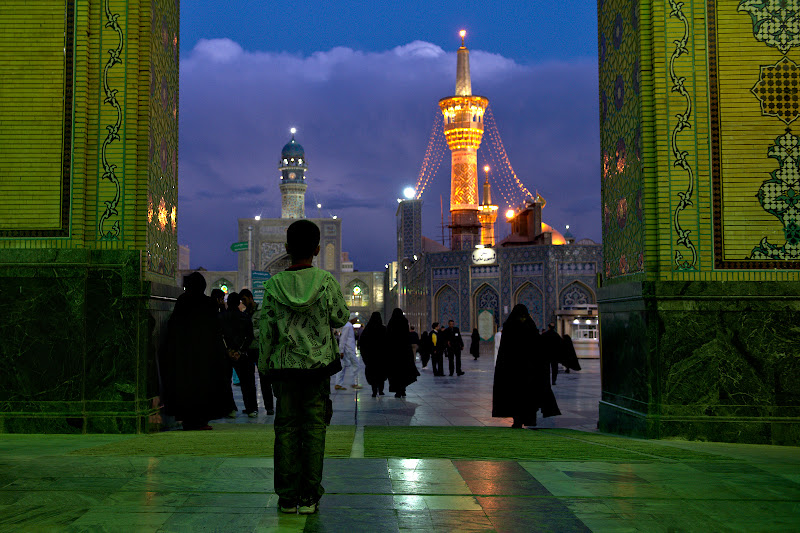 The pilgrimage complex from Mashad, one of Iran's religious centers.