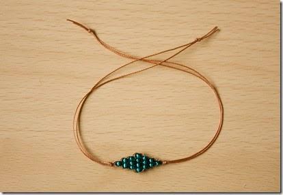 beaded diamond bracelet diy tutorial