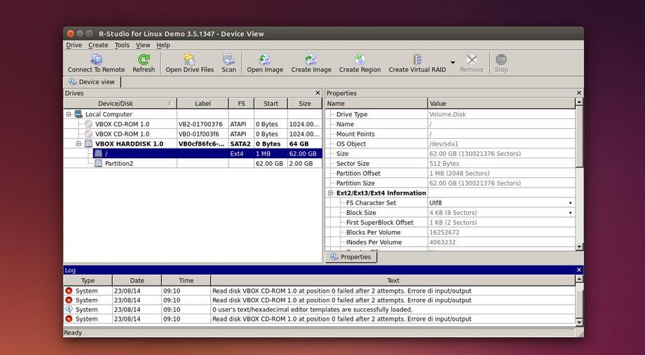 R-Studio Data Recovery in Ubuntu