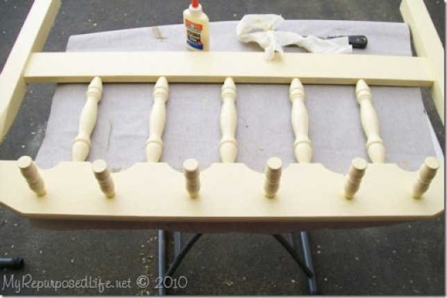 headboard and crib parts