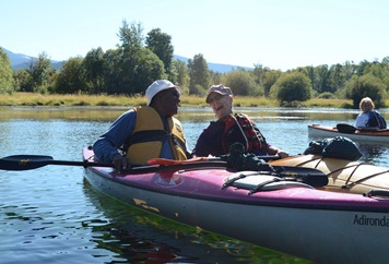 Odel said it was hard to get romantic in a tippy kayak