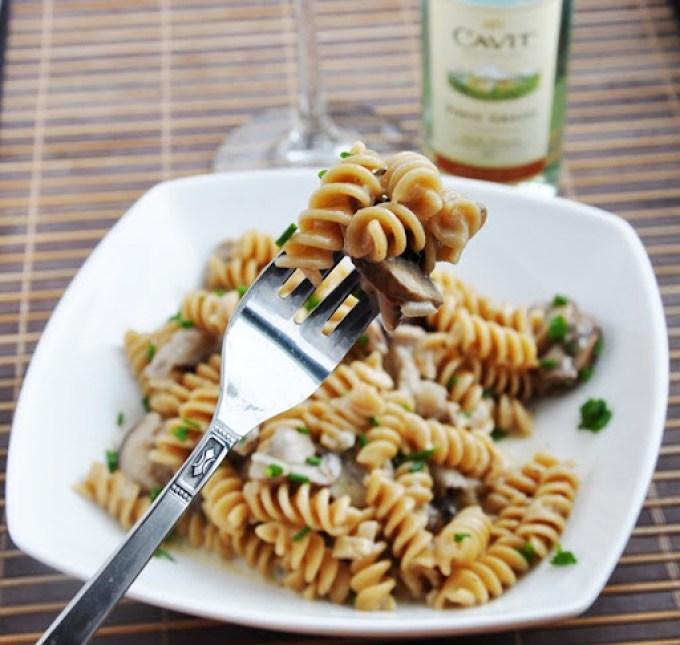 creamy mushroom pasta 121