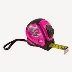 25 foot measuring tape pink durable great quality easy to read