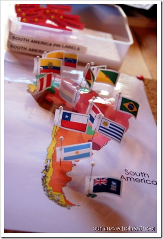 Montessori Pin Maps ~ Our Aussie Homeschool