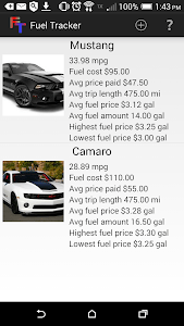 Fuel Tracker (Gas Mileage Log) screenshot 0