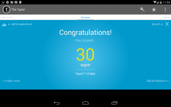 Typist: A Quick Typing Test ++ - Android Apps on Google Play